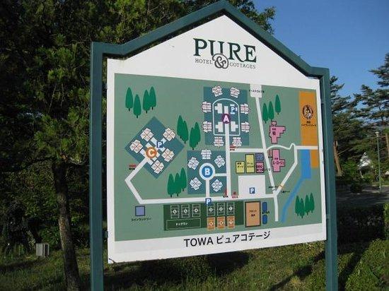 Towa Pure Cottage: 敷地内のレイアウト