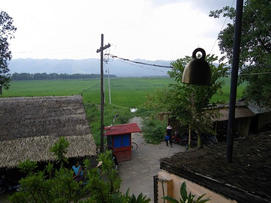 The Shan Restaurant : View to the fields and hills