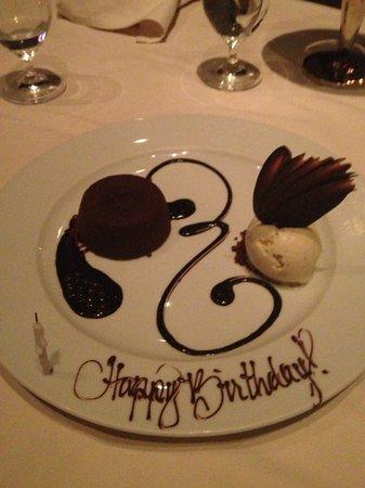 Prime Steakhouse : Happy bday!
