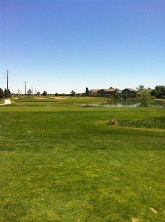 Ute Creek Golf Course, Longmont, Co : #18 tee view