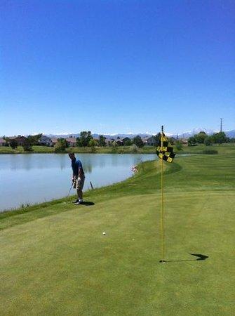 Ute Creek Golf Course, Longmont, Co: #18 great finishing hole