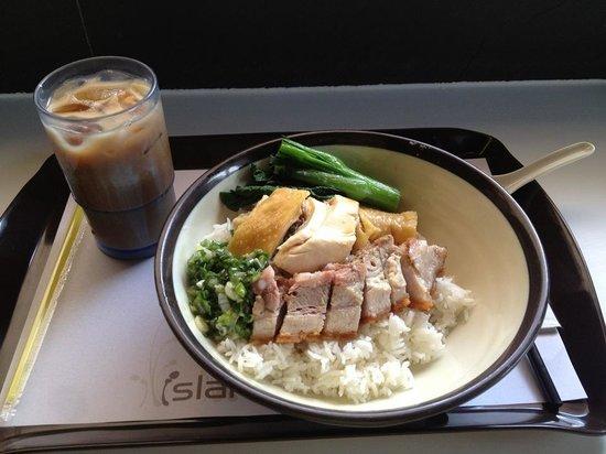 Island Cafe : 香港式BBQライス、2種類(蒸し鶏と炙り豚バラ)、定番メニュー