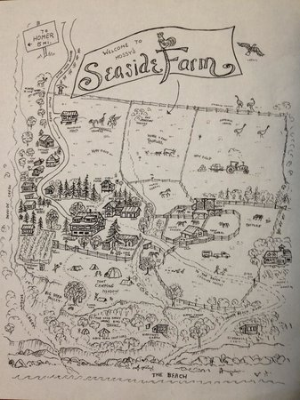 Map of Seaside Farm prorperty.