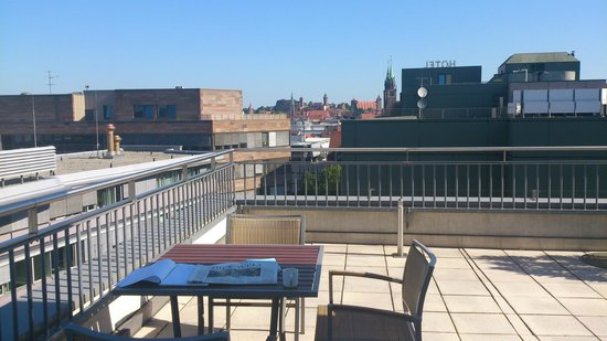 Sheraton Carlton Hotel Nuernberg: Blick von der Penthouse-Suite zur Altstadt