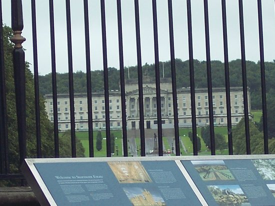 Parliament Buildings: View from outside the main gate