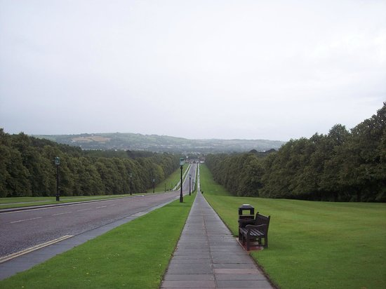 Stormont Estate and Parliament Buildings: View of the main gate from the building