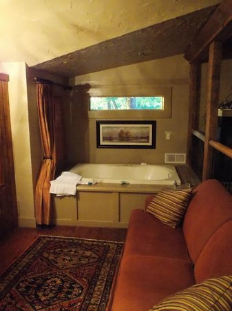 The Overlook Inn Bed and Breakfast: The in-room jacuzzi in the Celestial Suite!