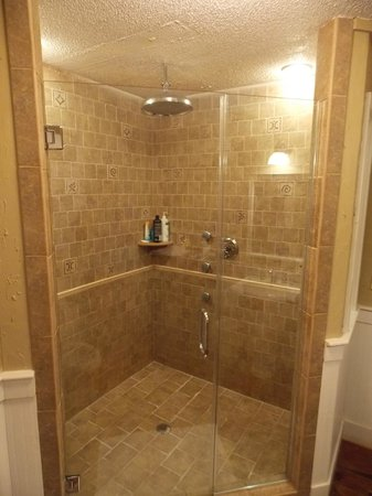 The Overlook Inn Bed and Breakfast: The en suite bathroom with spa-inspired shower in the Celestial Suite!
