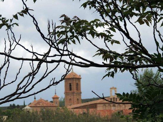 Hotel Monasterio de Piedra & Spa: Monasterio desde el parque