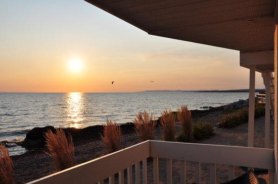 Riotel Bonaventure: Depuis notre balcon, magnifique coucher de soleil