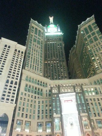 Makkah Clock Royal Tower, A Fairmont Hotel: View from Outside from the entrance gate of the holy mosque