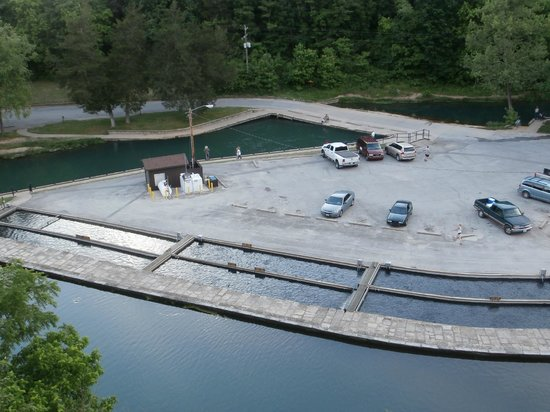 Trout hatchery picture of roaring river state park for Fish farm missouri