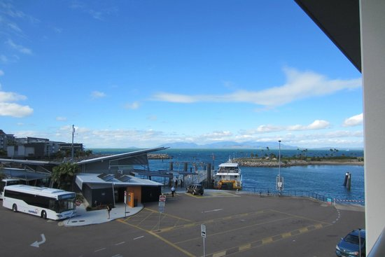 Peppers Blue On Blue Resort: View from balcony - shows proximity to ferry terminal