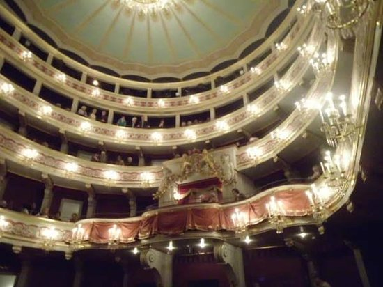 Theater Regensburg: The wonderful balconies are perfect