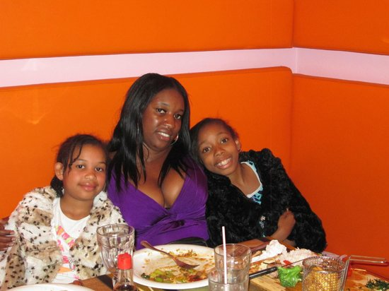 China Town Restaurant: my self and my girls enjoying our food at china town