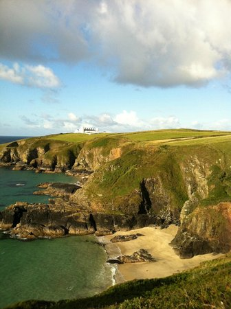 Chapel House at The Lizard: Lizard coastline