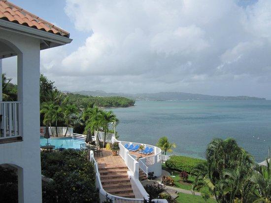 Windjammer Landing Villa Beach Resort: View of ocean from balcony
