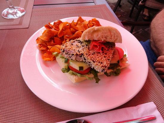 Wild Thyme Gourmet: Sesame Tuna sandwich