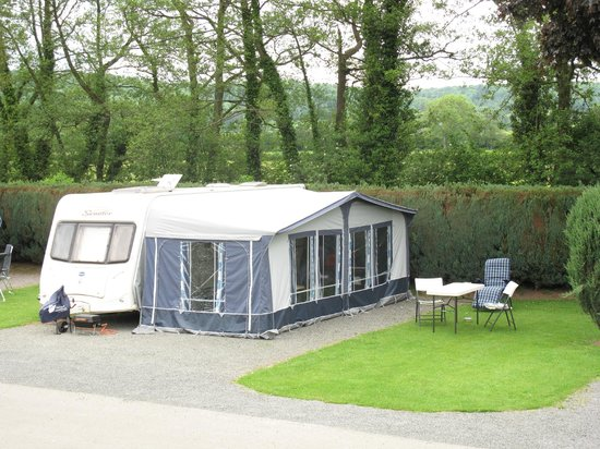 Poston Mill Holiday Home and Touring Park: Fully Serviced, level hard standing Touring Pitch