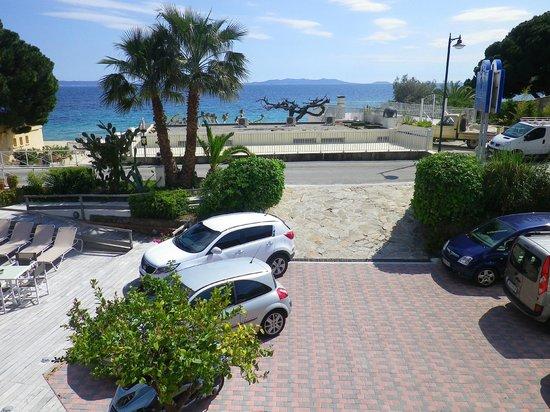Hotel Le Grand Pavois : la vue de notre chambre