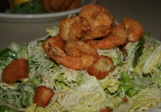 Papa Joe's Oyster Bar & Grill: Shrimp Caesar Salad