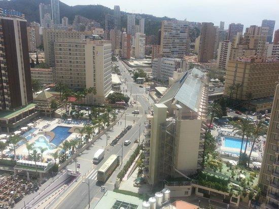 Torremar Apartments : veiws of nearby hotels.Rosaire/Ambassidor Playa.