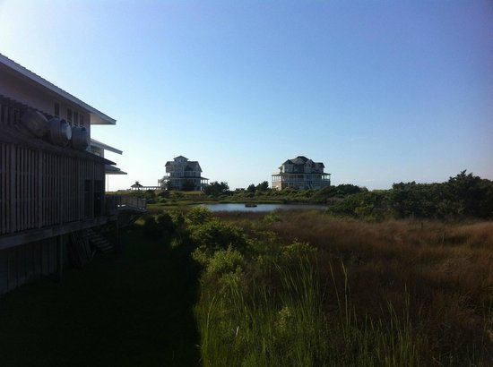 The Villas of Hatteras Landing: View from second floor near Room 212