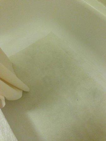 La Quinta Inn Columbus Airport Area: filthy bathtub/shower