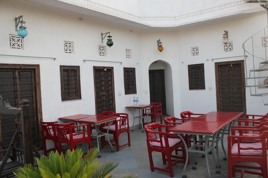 Dining terrace at Mosaic's Guesthouse