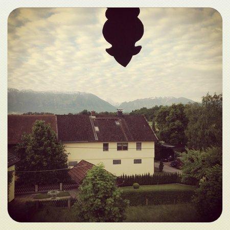 Hotel Gasthof Moosleitner: From the balcony in 303