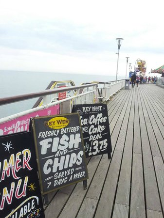 Bournemouth Pier: You can find affordable places to eat here
