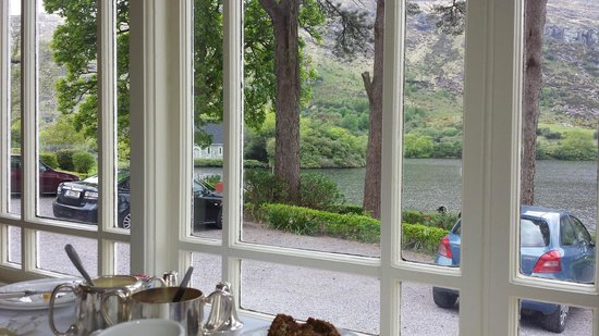 Gougane Barra Hotel: The view from our dining table. I'm going to miss having breakfast with a view like this.