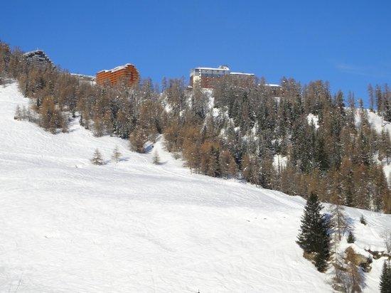 Chalet-Hotel Les Rhododendrons : Vue sur les pistes