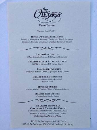 The Otesaga Resort Hotel: Menu