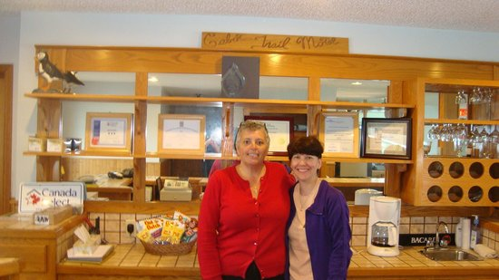 Cabot Trail Motel: Cathy and I.