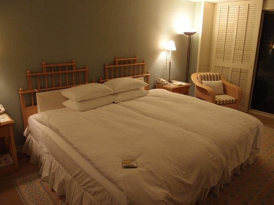 The Shilla Jeju: The comfortable bed.