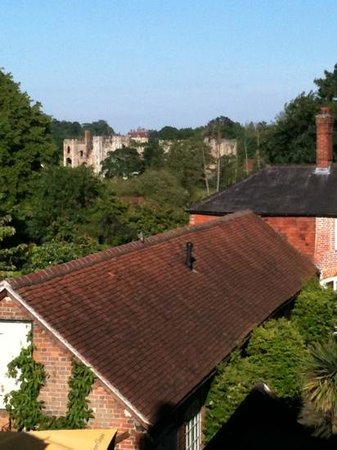 The Angel Inn: View of Cowdray house from bathroom of Room 9