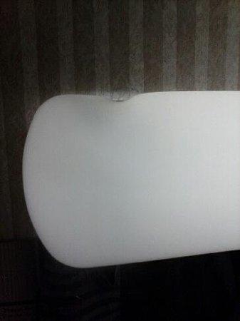 Ramada Bangor : Melted light fixture in bathroom
