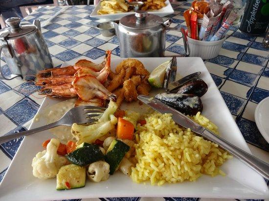 Bertha's Restaurant: Delicious Seafood Platter