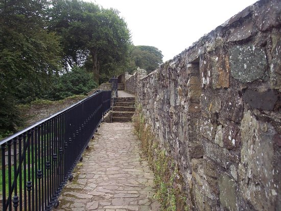 Landward Town Walls of Youghal: Walking on the wall