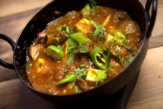 Luigikhan's: Mushroom Paneer Karahi