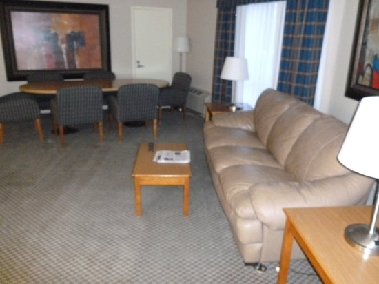 Ramada Plaza Casper Hotel and Conference Center: Leather couch