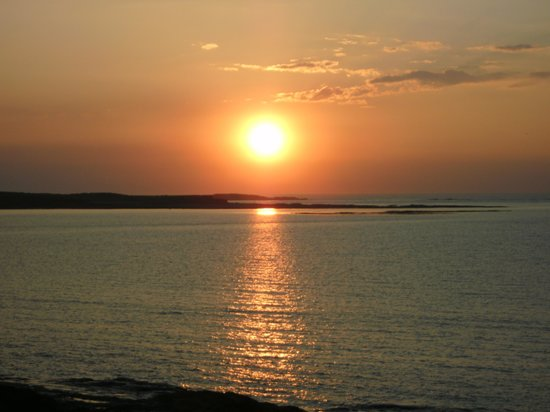 Clonmore Lodge: Sonnenuntergang am Strand