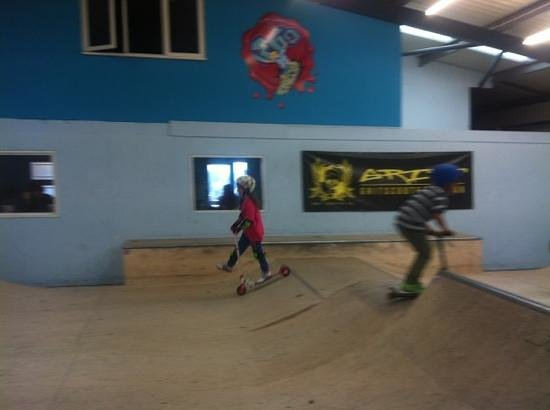 360 Indoor Skate Park: Small Ramp area