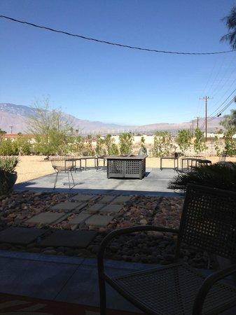 Desert Hot Springs Inn : Out-door dog run play time/ fire pit relax time