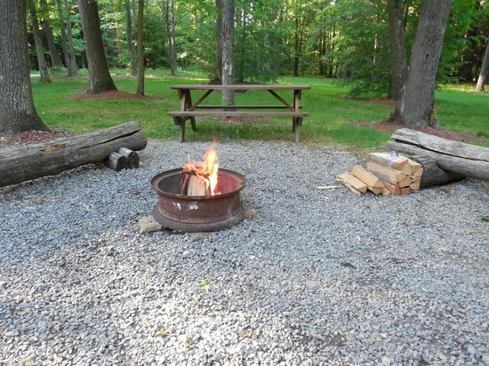 Campers Paradise: Our fire pit area.