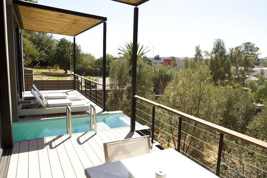 The Olive Exclusive: Private plunge pool, balcony and view