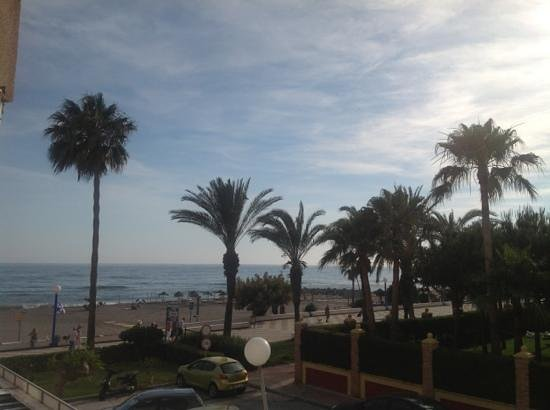 Torrox, Spain: view from our rental apt. looking down on the promenade.