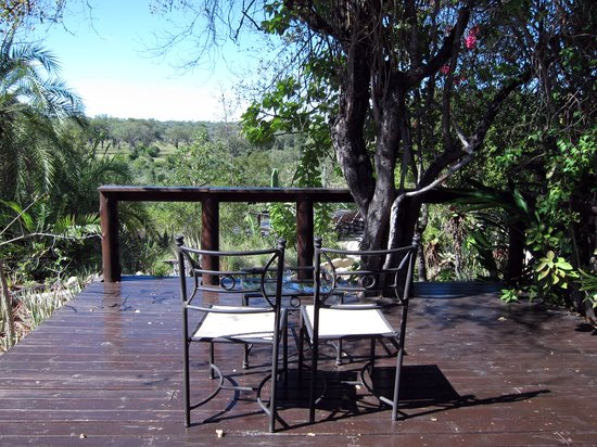 Elephant Plains Game Lodge: Terrasse mit Ausblick