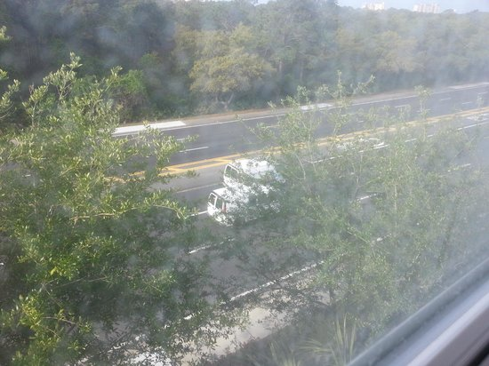 Residence Inn by Marriott Sandestin at Grand Boulevard: View of highway from hotel room.